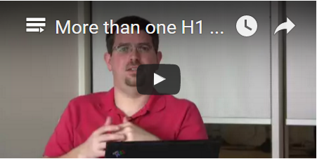 Matt Cutts: More than one H1